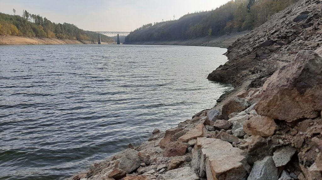 Nízký stav vody na Orlíku